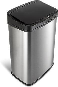 Nine Stars 13.2 Gallon Motion Sensor Trash Can