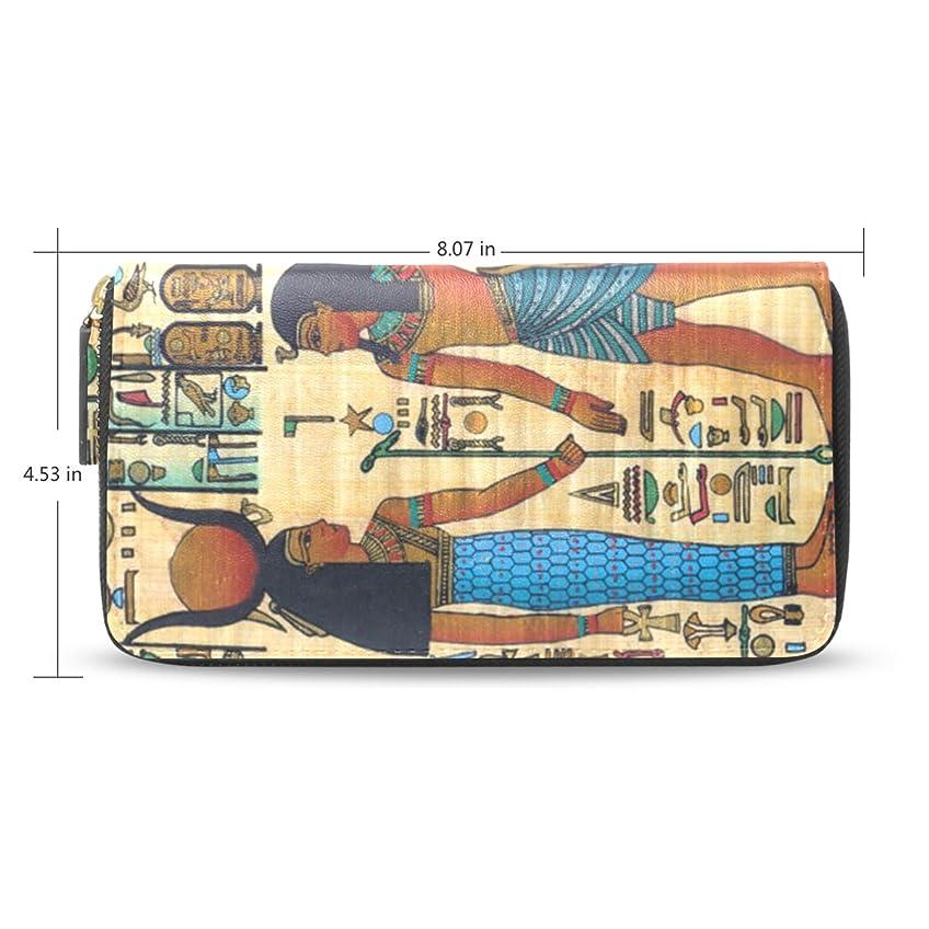 性的パケット肥料レディース古代エジプトアートパターン長財布&財布ケースカードホルダー