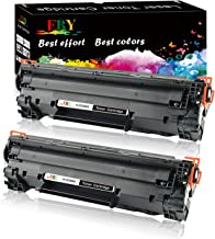 EBY Compatible Toner Cartridge Replacement for CE285A 85A P1102, P1102W, P1109, P1109W, M1132, M1212NF MFP, M1217NFW MFP, M1214NFH Laser Printer (Black, 2-Pack)