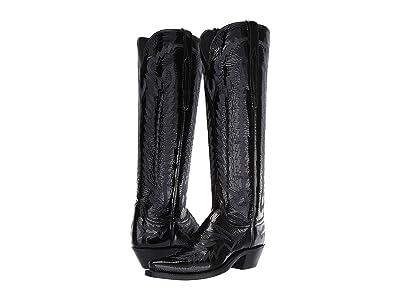 Lucchese Priscilla (Black Patent) Cowboy Boots
