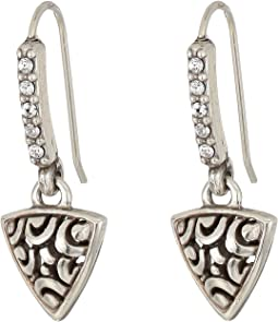 Brighton Deco Luxe Triangle French Wire Earrings