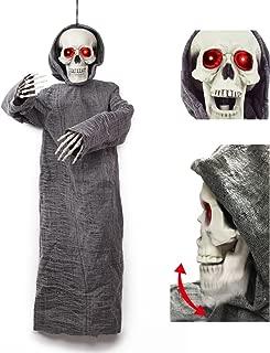 JOYIN 50 inch Animated Hanging Skeletion Ghost Reaper Halloween Decoration