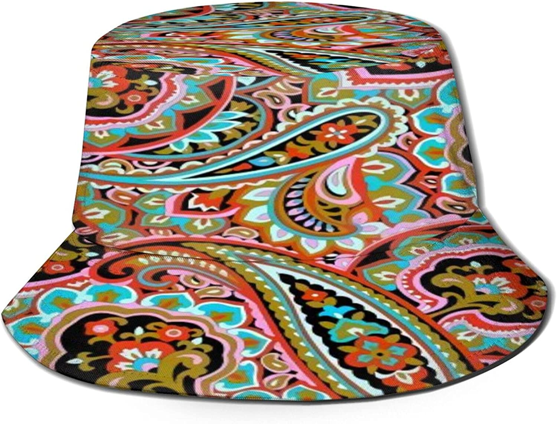 100% quality warranty! Spiral Paisley Pattern Bucket Hat Unisex Packable Sun Summer shop