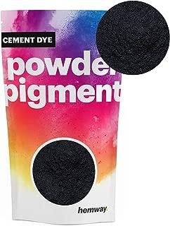 Hemway Cement Dye Powder Pigment Concrete Color Render Mortar Pointing Powdered Brick Toner Plaster (50g / 1.75oz, Metallic Charcoal Black)