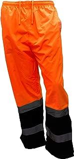 New York Hi-Viz Workwear WP0211 Insulated thermal lined Waterproof Rain Pants Over Trousers (SET OF 2 Orange, 4X)
