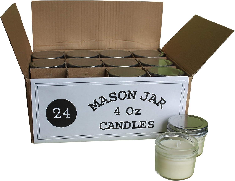 Bulk Candles Bulk Mason Jar Candles Soy Wax Shower Candles Wedding Candles 40-4 oz Mason Jar Candle Favors