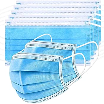 Amber (100 Pcs) 3-Ply Meltblown Disposable Surgical face Mask with nosepin