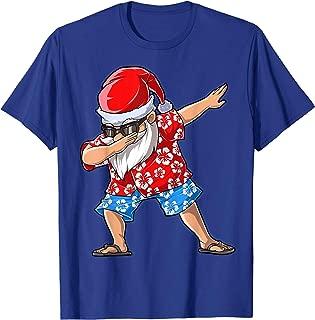 Dabbing Santa T Shirt Christmas in July Kids Hawaiian Xmas