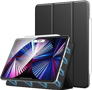 iPad Pro 11 ケース 2021 ATiC Apple iPad Pro 11インチ 2020/2018 第1/2/3世代適用 スマートフォリオ磁気吸着仕様 apple pencil2 ペアリング ワイヤレス充電 オートスリープ機能 軽...