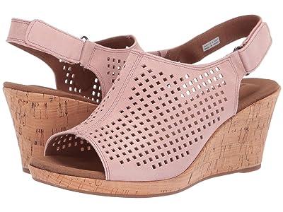 Rockport Briah Perf Sling (Pink Metallic) Women