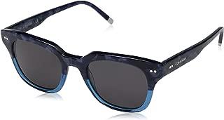 Calvin Klein Unisex-Adult Calvin Klein Unisex Ck4353s Square Sunglasses CK4353S-422 Square Sunglasses, HAVANA BLUE, 49 mm