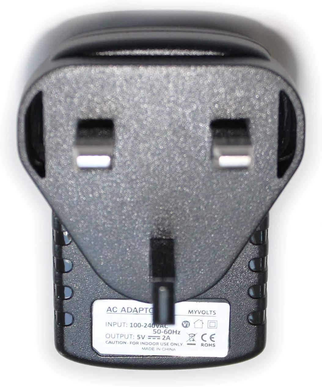 UK 6V plug MyVolts power adaptor compatible with Sandstrom DAB Radio SDR15