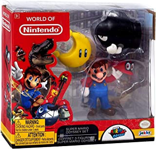 World of Nintendo Super Mario Odyssey Figure Set with Cappy