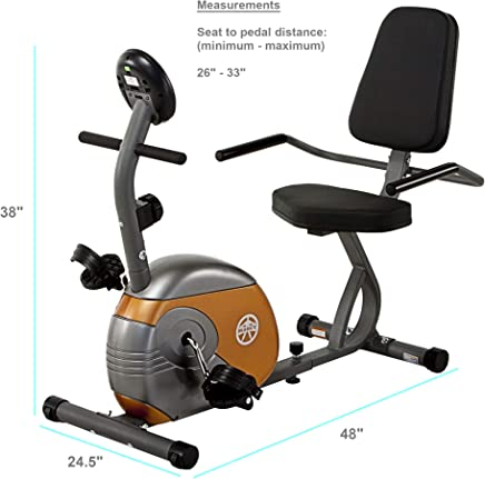 featured product Marcy Recumbent Exercise Bike with Resistance ME-709