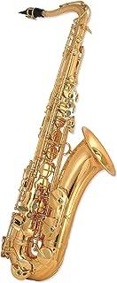 Kaizer Tenor Saxophone B Flat Bb Intermediate Gold Lacquer Includes Case Mouthpiece and Accessories TSAX-3000LQ