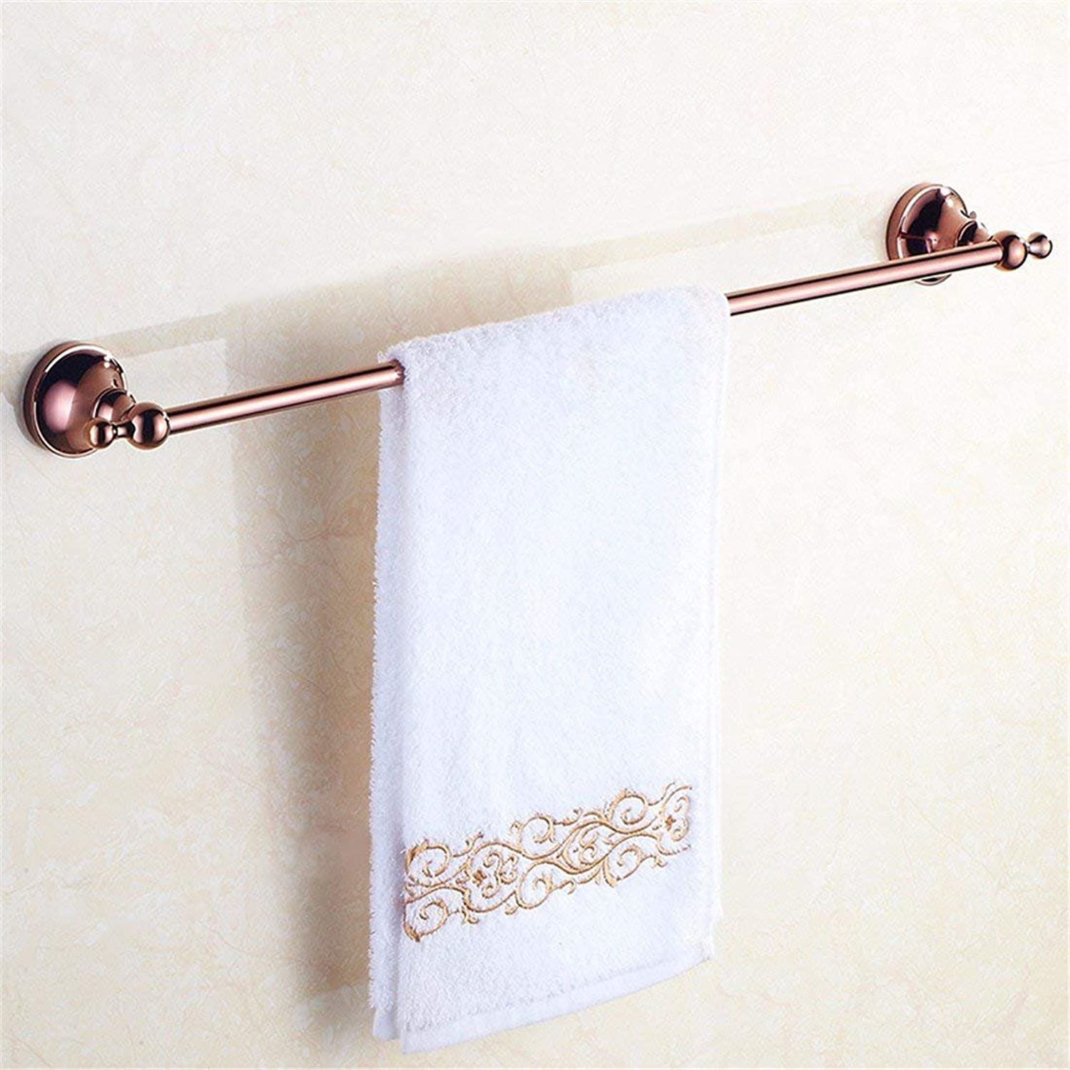 Accessories in Pink gold a Private Bathroom in The Copper, The Support to Folding Towels, Single Rod