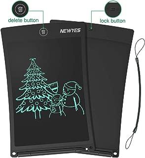 NEWYES 8,5 Pulgadas Tableta Gráfica, Tablets de Escritura LCD, Portátil Tableta de Dibujo Adecuada para el hogar, Escuela, Oficina, Cuaderno de Notas, 1 año de garantía (Negro)