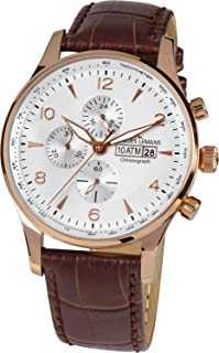 Jacques Lemans 1-1844F Classic Analogue Off-White Dial Watch for Men, Boys