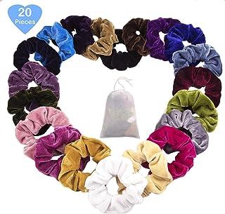 CUTEFA 20 Hair Scrunchies Velvet Elastics Bright Colorful Hair Bobble  Scrunchy Hair Bands Women Soft Hair 318ea7e94e33