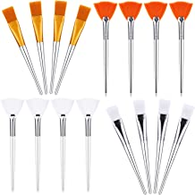16 Pieces Face Mask Brush Set Includes Soft Fan Facial Brushes Acid Applicator Brush Soft Applicator Brushes Makeup Tools ...