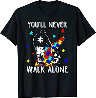You'll Never Walk Alone Shirt Puzzle Pieces Autism Awareness