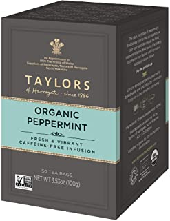 Taylors of Harrogate Organic Peppermint Herbal Tea, 50 Teabags