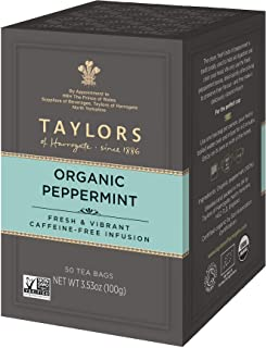 Taylors of Harrogate Organic Peppermint Herbal Tea, 50 Teabags