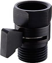 Solid Brass Shower Head Shut Off Valve Water Flow Control with Brass Handle On Off Switch for Hand Shower Bidet Sprayer Shower Arm, Oil Rubbed Bronze