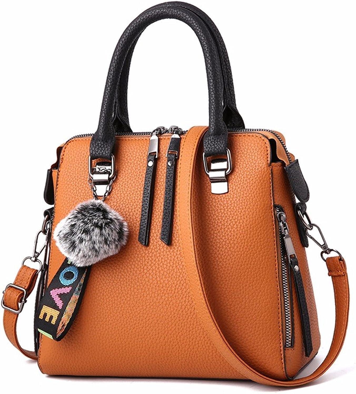 GQFGYYL Frauen mit Großer Kapazität in Freizeit Freizeit Freizeit Luft Handtasche Single umhängetasche,Gelb B07F8JNFM3  Günstigstes c79f2e
