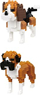 2 Interesting Dogs - Bundled Nanoblock Set - Boxer and Beagle (Japan Import)