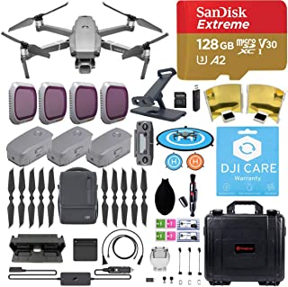 DJI Mavic 2 Pro Drone Quadcopter with Fly More Combo, Care Refresh, Comes with 3 Batteries, PGY ND Filters, Pad Holder, 128GB Extreme Micro SD, Landing Pad, Signal Booster, Extra Waterproof Hard Case
