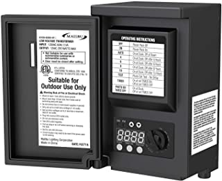 Malibu 200 Watt Low Voltage Transformer Power Pack for Outdoor Landscape Lights Use