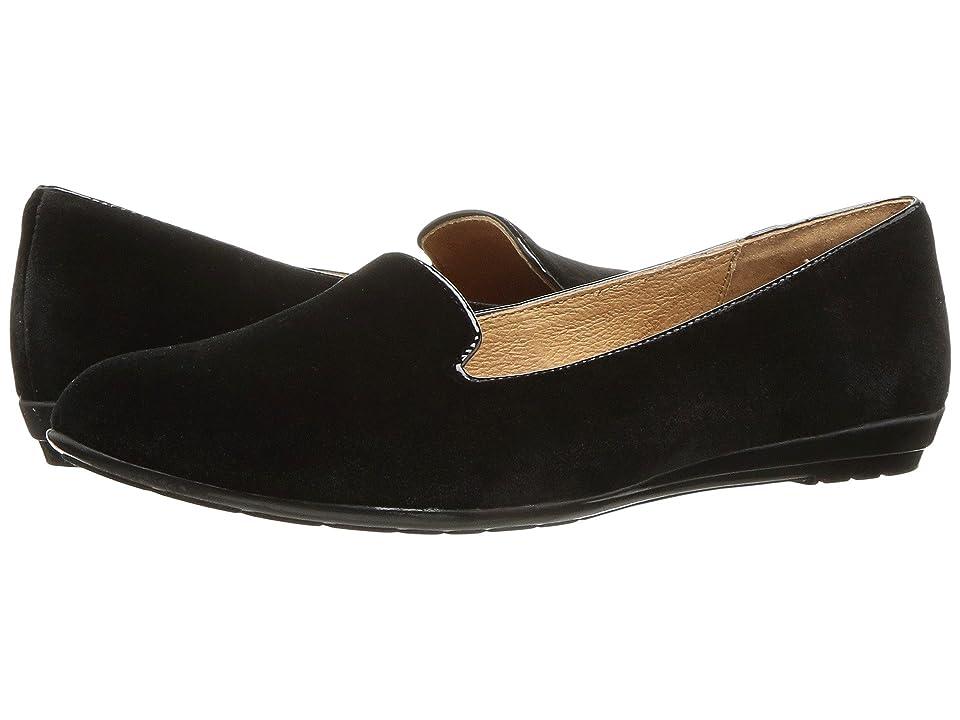 Sofft Belden (Black Velvet/Cow Patent) Women