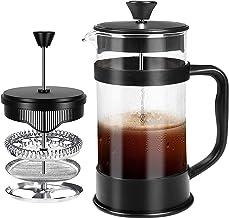 French Coffee Press, Zwart - 1000 ml/ 1 Liter (32 oz) Espresso en Theemaker met drievoudige filters, roestvrij stalen plun...
