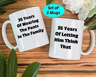 35th Anniversary Gifts, 35th Wedding Gift, 35 Years Of Marriage, 35 Years Wedding Mug, 35th Anniversary Gift Ideas, 35 Years Married Mug,11 Ounces Funny Coffee or Tea Mug