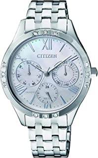 Citizen Women Silver Dial Stainless Steel Band Watch - ED8170-56D