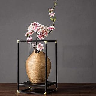 Luckyw Keramisk vas hantverk kreativ konst dekoration displayskåp skrivbord dekoration guldvas keramisk vas dekoration