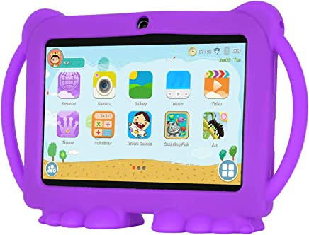 $39 Get Xgody T702 7 Inch HD KidsTablet PC for Kids Quad Core Android 8.1 1GB RAM 8GB ROM Touch Screen with WiFi Pre-Loaded 3D Game Dual Camera Purple