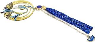 Segnalibro KOI libri nappa perla onde giapponesi mare seigaiha blu bianco Giappone ottone resina regali personalizzati reg...