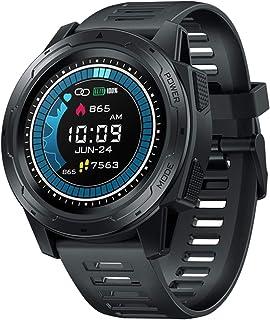 LTLGHY Smartwatch Relojes Inteligentes, Pulsera Actividad Inteligente Impermeable IP67, Reloj Fitness con Pulsómetro Cronómetros Calorías Monitor De Sueño Podómetro para Android iOS,Negro