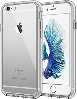 JETech Case for Apple iPhone 6 Plus and iPhone 6s Plus 5.5-Inch, Shock-Absorption Bumper Cover, Anti-Scratch Clear Back, Gray/Clear