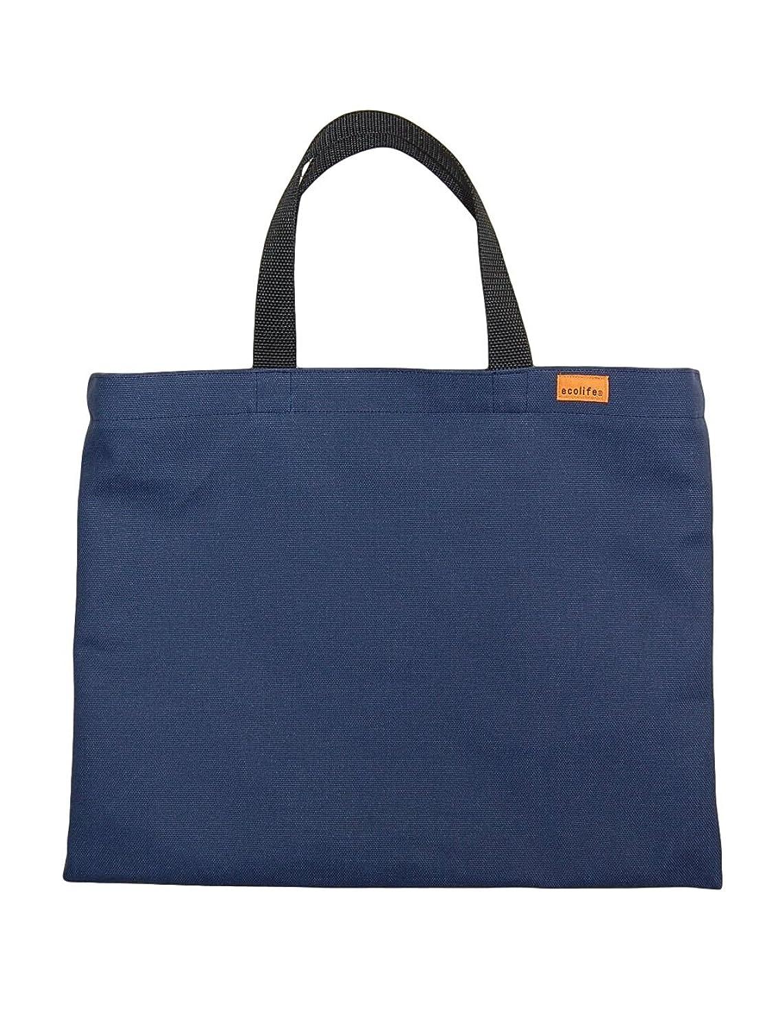 お金ゴム足確かめる[エコライフ] A4 横型 日本製 カスタマイズ エコバッグ 想定重量2kg 弱撥水 帆布