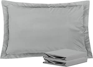 NTBAY Queen Pillow Shams, Set of 2, 100% Brushed Microfiber, Soft and Cozy, Wrinkle, Fade, Stain Resistant (Smoky Grey, Queen)