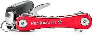 KeySmart Rugged - Multi-Tool Key Holder with Bottle Opener and Pocket Clip (up to 14 Keys, Red)
