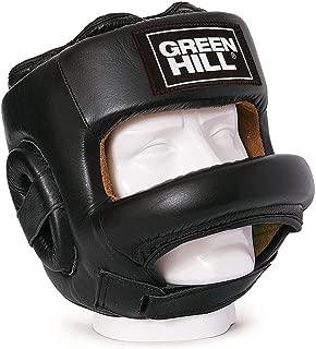 GREEN HILL Casco DE Boxeo Fort PROTECCIÓN Barra Frontal Boxing Negro