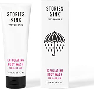 Stories & Ink Tattoo Care - Exfoliating Body Wash - Gently Removes Dead & Dull Skin, Reveals Brighter & More Radiant Looki...
