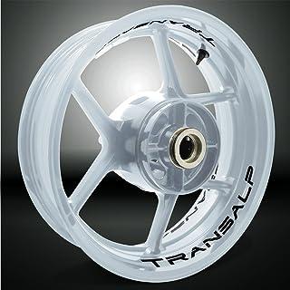 Negro Brillante Motocicleta Moto Llanta Inner Rim Tape Decal Pegatinas para Honda Transalp
