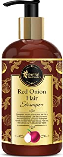 Oriental Botanics Red Onion Hair Shampoo, 300ml - With Biotin, Argan Oil, Caffeine, Protein, 27 Hair Boosters Controls Hai...