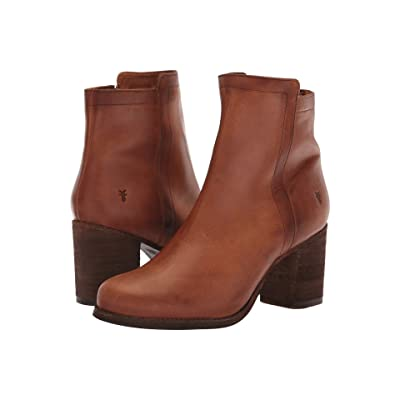 Frye Addie Inside Zip (Cognac) Women