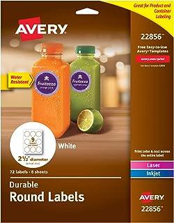 ملصقات عناوين Avery Easy Peel لطابعات نافثة الحبر 72 labels